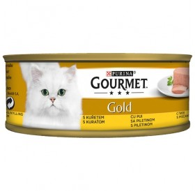 Purina® Gourmet® Gold Pate with Chicken /храна за израснали котки пастет пиле/-85гр