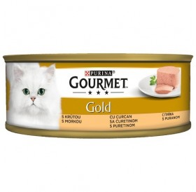 Purina® Gourmet® Gold Pate with Turkey /храна за израснали котки пастет пуйка/-85гр