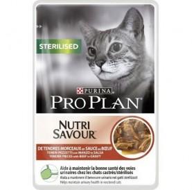 Purina Pro Plan Nutri Savour Sterilised with Beef in Sauce /храна за кастрирани котки с говеждо месо/-85гр