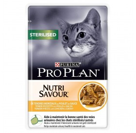 Pro Plan Nutri Savour Sterilised With Chicken In Sauce /Храна За Кастрирани Котки С Пилешко Месо/-85гр
