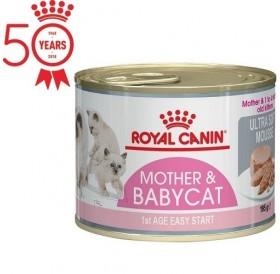 Royal Canin Mother&Babycat Mousse /мус за бременни и кърмещи котки и котенца по време на отбиване/-195гр