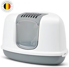Savic® Nestor Corner /закрита ъглова котешка тоалетна с филтър/-58,5x45,5x40см