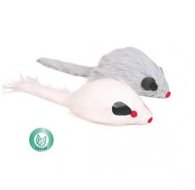 Trixie Long-Haired Plush Mice /играчка за котка мишка/-9см