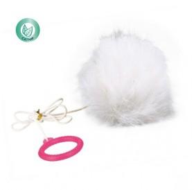Trixie Plush Balls /играчка за котка заешка опашка/-Ø7см