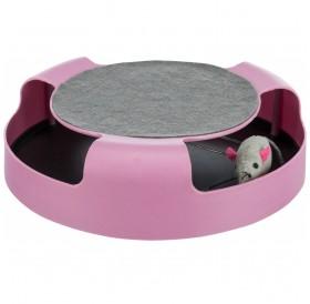 Trixie Catch The Mouse Plastic /Играчка За Котки Със Зона За Точене На Нокти/-Ø25x6см