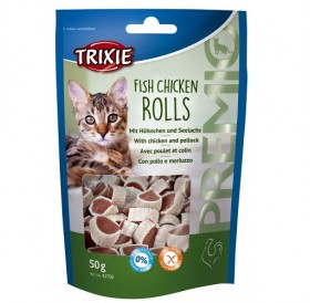 Trixie Premio Rolls /лакомства за котка с пиле и морска треска/-50гр