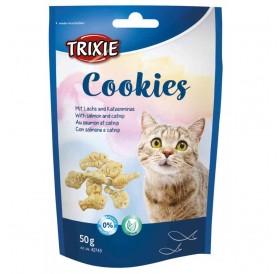 Trixie Cookies /Бисквитки За Котки Със Сьомга И Коча Трева/-50гр