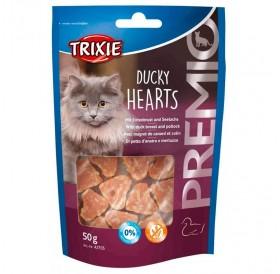 Trixie Premio Ducky Hearts /Лакомства За Котки С Патешки Гърди И Морска Треска/-50гр