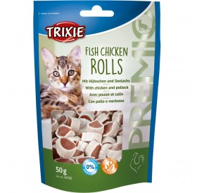 Trixie Premio Fish Chicken Rolls /Лакомства За Котки С Пиле И Морска Треска/-50гр