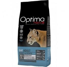 Optima nova CAT Adult Rabbit&Potato /храна за израснали котки със заешко месо и картофи/