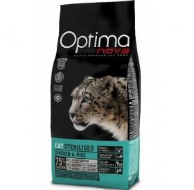 Optima nova CAT Sterilised Chicken&Rice /храна за кастрирани котки с пилешко месо и ориз/