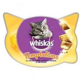 Whiskas® Temptations™ with Chicken /хрупкави лакомства с пълнеж с вкус на пилешко месо за котки/-60гр