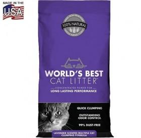 World's Best Cat Litter™ Lavender Scented Multiple Cat Clumping /ароматизирана котешка постелка произведена на царевична основа/-3,18кг