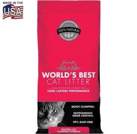 World's Best Cat Litter™ Multiple Cat Clumping /котешка постелка произведена на царевична основа/-3,18кг