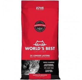 World's Best Cat Litter Multiple Cat Unscented /Котешка Постелка Произведена На Царевична Основа/-3,18кг