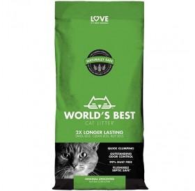 World's Best Cat Litter Original Unscented /Котешка Постелка Произведена На Царевична Основа/-3,18кг