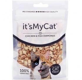 it's My Cat® Chicken&Fish Diamonds /лакомства за коте кубчета пилешко месо с риба/-50гр