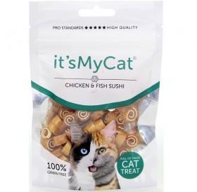 it's My Cat® Chicken&Fish Sushi /лакомства за коте хапки пилешко месо обвити в риба/-50гр