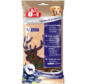 8in1 Minis Venison & Blueberry /меки лакомства за куче с еленско месо и боровинки/-100гр
