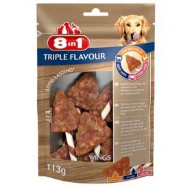8in1 Triple Flavour Wings /лакомства за куче с пилешко филе говежда и свинска кожа/-113гр