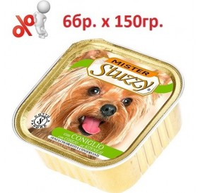 Mister Stuzzy® Dog with Rabbit /храна за израснали кучета пастет с месо от заек/-6х150гр