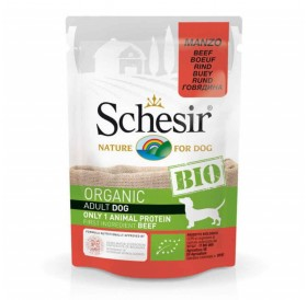 Schesir BIO Pouch Dog Adult Beef /храна за израснали кучета с говеждо месо/-85гр