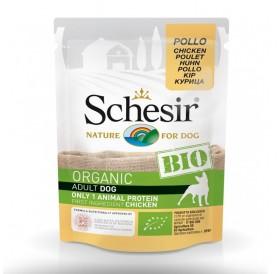Schesir BIO Pouch Dog Adult Chicken /храна за израснали кучета с пилешко месо/-85гр