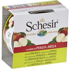 Schesir® Chicken Fillet and Apple /храна за израснали кучета с пилешки филенца и ябълка/-150гр