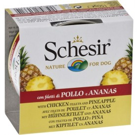 Schesir® Chicken Fillet and Pineapple /храна за израснали кучета с пилешки филенца и ананас/-150гр