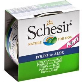 Schesir® Puppy Chicken&Aloe in Jelly /храна за подрастващи кученца с пилешки филенца и алое в желе/-150гр