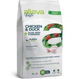Alleva Holistic Puppy Mini Chicken&Duck + Aloe Vera&Ginseng /Храна За Подрастващи Кученца Дребни Породи С Пилешко И Патешко Месо + Алое Вера и Женшен/-800гр
