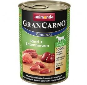 Animonda GranCarno® Original Adult Beef+Duck Hearts /храна за израснали кучета с говеждо месо и патешки сърца/-400гр
