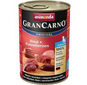 Animonda GranCarno® Original Junior Beef+Turkey Hearts /храна за подрастващи кученца с говеждо месо и пуешки сърца/-400гр