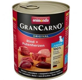 Animonda GranCarno® Original Junior Beef+Turkey Hearts /храна за подрастващи кученца с говеждо месо и пуешки сърца/-800гр