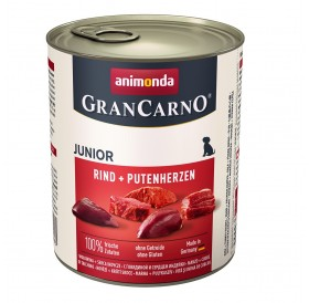 Animonda GranCarno Meaty Fresh Junior Beef+Turkey Hearts /храна за подрастващи кученца с говеждо месо и пуешки сърца/-800гр