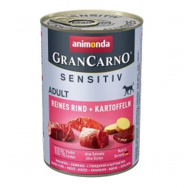Animonda GranCarno Sensitive Adult with Pure Beef+Potatoes /храна за израснали кучета с говеждо месо и картофи/-400гр