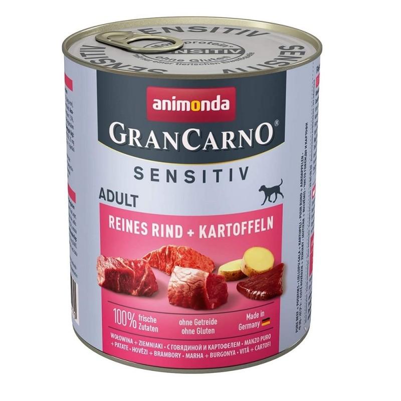 Animonda GranCarno Sensitive Adult with Pure Beef+Potatoes /храна за израснали кучета с говеждо месо и картофи/-800гр