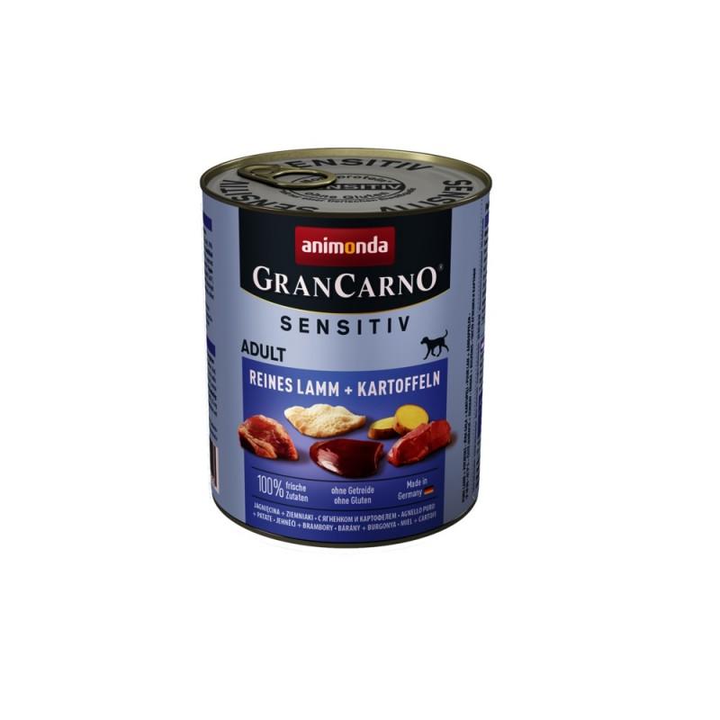 Animonda GranCarno Sensitive Adult with Pure Lamb+Potatoes /храна за израснали кучета с агнешко месо и картофи/-800гр