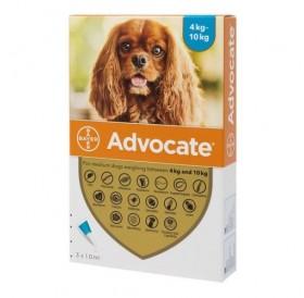 Bayer Advocate Dog 100 spot-on /пипети за широкоспектърна защита срещу вътрешни и външни паразити за кучета от 4 до 10кг/-3бр
