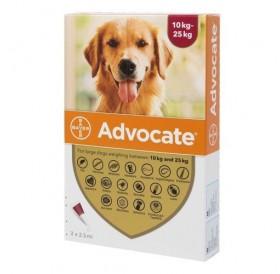 Bayer Advocate Dog 250 Spot-On /Пипети За Широкоспектърна Защита Срещу Вътрешни И Външни Паразити За Кучета От 10 До 25кг/-3бр