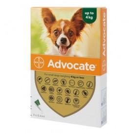 Bayer Advocate Dog 40 spot-on /пипети за широкоспектърна защита срещу вътрешни и външни паразити за кучета до 4кг/-3бр
