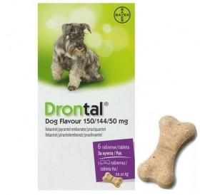 Bayer Drontal /Обезпаразитяващи Таблетки За Вътрешни Паразити За Куче/-6бр