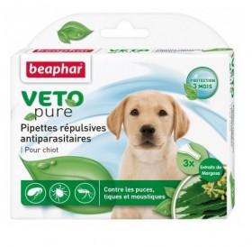Beaphar Veto Pure Bio Spot-on Puppy /био противопаразитни пипети с репелентно действие/-3бр