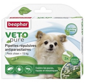 Beaphar Veto Pure Bio Spot-on for Small Dogs /био противопаразитни пипети с репелентно действие за кучета малки породи/-3бр