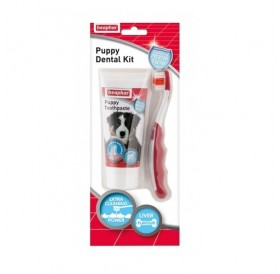 Beaphar Puppy Dental Kit /Паста И Четка За Зъби За Малки Кученца/-50гр