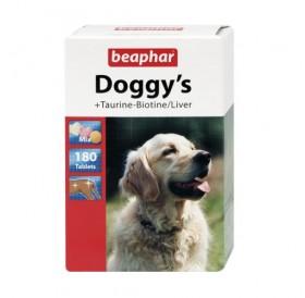 Beaphar Doggy's Taurine Biotine Liver /хранителна добавка за израснали кучета с биотин дроб и шунка/-180бр