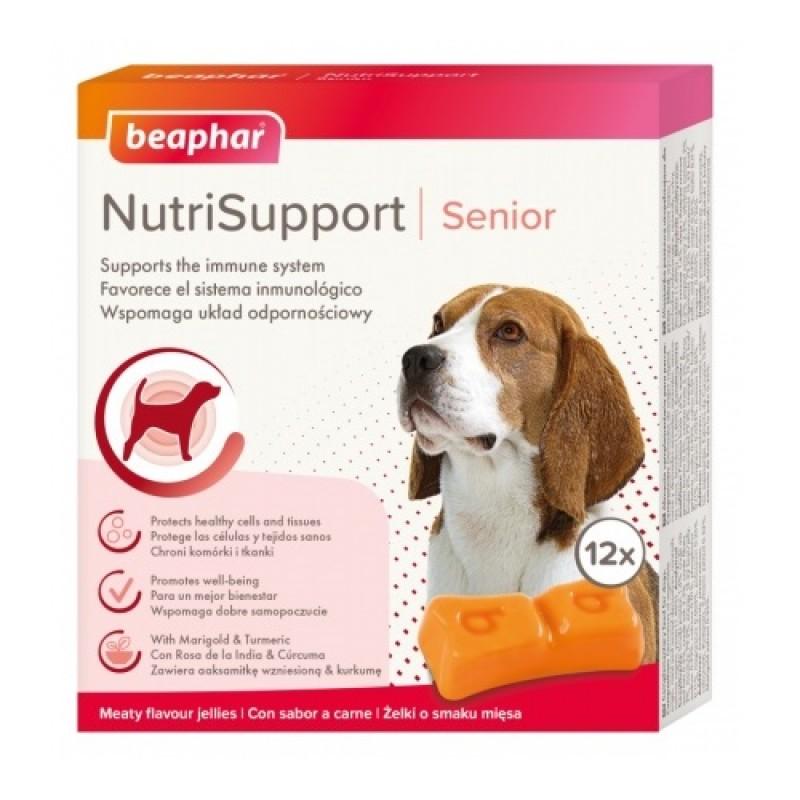 Beaphar® NutriSupport Senior Dog /хранителна добавка за поддържане на имунната система при възрастни кучета/-12бр