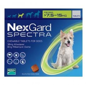 NexGard™ Spectra M /меки дъвчащи обезпаразитяващи таблетки за външни и вътрешни паразити за кучета от 7,5 до 15кг/-3бр