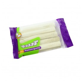 Braaaf Pressed Stick White Leather /пресована пръчка от бяла кожа 12,5см/-5бр