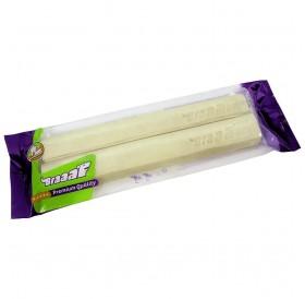 Braaaf Pressed Stick White Leather /пресована пръчка от бяла кожа 25см/-2бр
